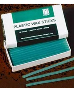 Plastic Wax Sticks, Green, Bx/48, Hygenic