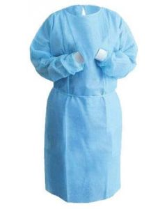 Isolation Gowns with SMS Material, Knit Cuff, Blue Pk/50