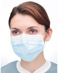 Extra-safe Sensitive Earloop Face Mask - Sky Blue