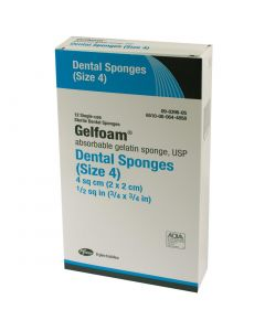 "Gelfoam Dental Packs, Size 4, 3/4"" x 3/4"""