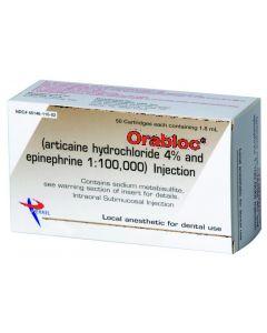 Orabloc 4% with Epinephrine, 1:100,000, Red